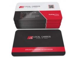 Cartão de Visita Fosco - 1000 CARTÕES COLORIDO 48x88mm PAPEL COUCHÊ 300G FOSCO C/ VERNIZ LOCALIZADO FRENTE E VERSO COM CANTOS ARREDONDADOS