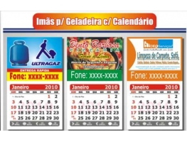 Imãs de geladeira - 500 IMÃS DE GELADEIRA C/ CALENDÁRIO 5x4 CM PAPEL FOTOGRÁFICO 4x0 CORES