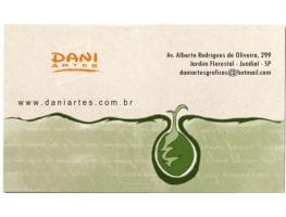 Cartão de Visita Reciclado - 500 CARTÕES 48x88mm PAPEL RECICLADO 250G COLORIDO SEM APLICAÇÃO DE VERNIZ BRILHO FRENTE