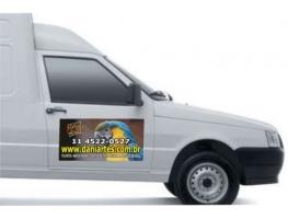 Imãs para carro - IMÃ PARA CARRO EM VINIL BRANCO - COLORIDO - MANTA 0,8 - 30X60CM (O PAR)