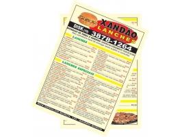 Cardápio de Mesa - 10 CARDÁPIO DE MESA 20x28 CM PAPEL SULFITE 120G C/ PLASTIFICAÇÃO BRILHO 4x4 CORES